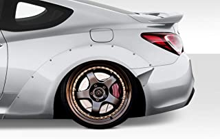 Extreme Dimensions Duraflex Replacement for 2010-2016 Hyundai Genesis Coupe 2DR MSR V2 70mm Rear Fender Flares