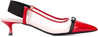 Luxury Fashion | Msgm Women 2841MDS084733818 Red Leather Heels | Spring-summer 20