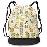 OKIJH Mochila Mochila de Ocio Mochila con cordón Mochila Multifuncional Bolsa de Gimnasio Gymsack Drawstring Bag Sackpack Cactus Sport Cinch Pack Simple Bundle Pocke Backpack For Men Women