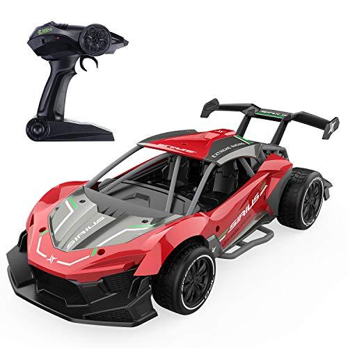 EACHINE EC06 Coche de carreras teledirigido 1:14 de alta velocidad, 2,4 GHz, coche eléctrico RC para niños y principiantes (rojo)