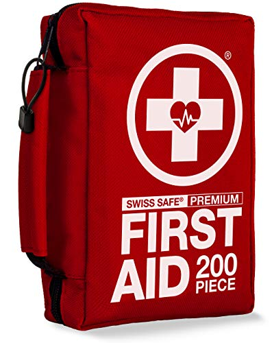 Swiss Safe 200 Piece Premium First Aid Kit
