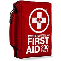 200-Piece Professional First Aid Kit for Home, Car or Work :...