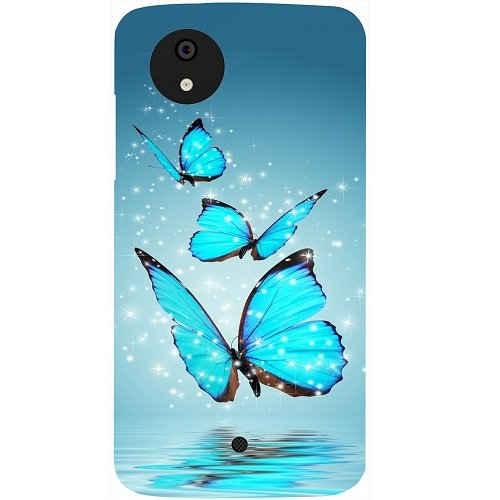 Casotec Flying Butterflies Design Hard Back Case Cover for Micromax Canvas A1
