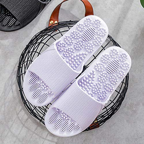 LWZ Hausschuhe Flache Schuhe, Sommer Unisex Innen- und Außenschuhe rutschfeste Massage Badewanne Hausschuhe Fördern Sie die Durchblutung