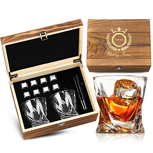 Whiskey Stones and Glass Set, Gifts for Him,Men,Father,Husband,Friends, 8...