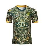 HANJIAJKL Équipe Afrique du Sud,CRB Sports, Springboks, 7s, Maillot De Rugby, Nouveau Tissé Brodé, Swag Sportswear,Vert,XXL
