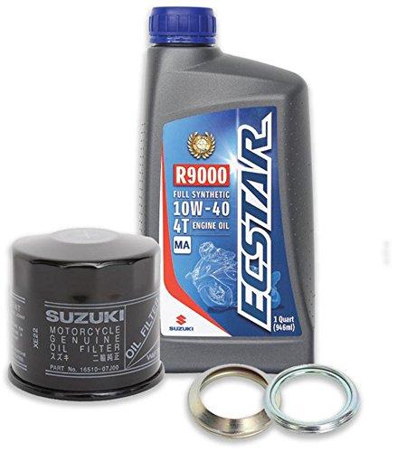 Suzuki ECSTAR Full-Synthetic 10W40 Oil Change Kit 4 Quarts 990A0-01E40-4KT