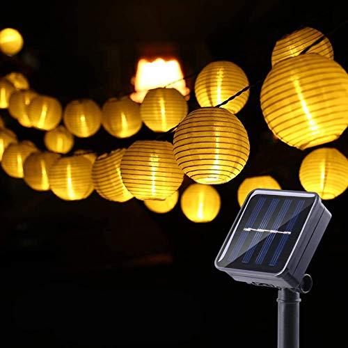 Geemoo Solar Lantern String Lights, 26.2ft 30 LED Solar Lights Outdoor Garden, 2 Modes Waterproof Solar Fairy Lights for Summer Garden, Party, Fenced, Lawn, Yard, Patio Decorations