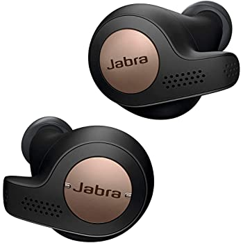 Jabra Elite Active 65t Earbuds – Wireless Earbuds with Charging Case, Copper Black – Bluetooth Earbuds with a Secure Fit and Superior Sound, Long Battery Life and More (Renewed)