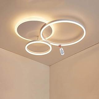 Wandun Lámpara LED de Techo Moderna Redondo Plafon de Techo Lámpara Accesorio de Iluminación para Sala de Estar, Dormitorio, Comedor Iluminación de Techo Lámpara de Bajo Consumo