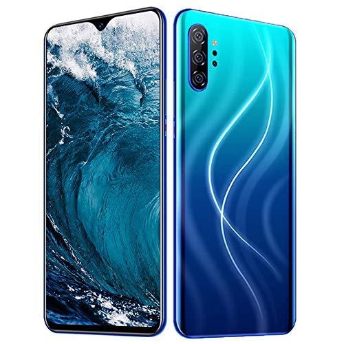 Smartphone Ohne Vertrag 4G - 6,7 Zoll HD, Note20pro 3800mAh Akku, 24MP-Kamera Octa-Core 3GB RAM/32GB ROM, 128GB Erweiterbar Dual SIM Android 10 Handy,Blue