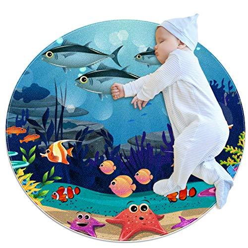 ASDFSD Beauty of Marine Life Tapis de jeu pour bébé Tapis de jeu pour chambre d'enfant 39,4 x 39,4 cm