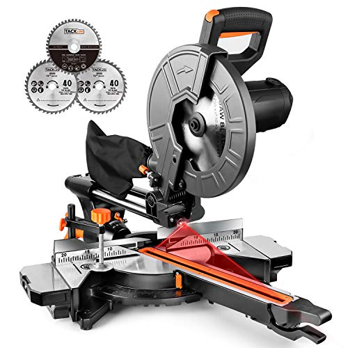 TACKLIFE 10-Inch Sliding Compound Miter Saw, 15Amp Motor, Dual Speed...