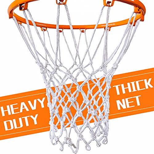 NEIJIANG Basketball Net Replacement Outdoor, Upgraded Thickening Heavy Duty, All Weather Anti Whip, Fits Standard Indoor or Outdoor 12 Loops Rim
