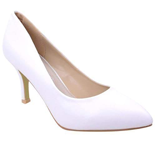 5e7b4122dc9b WOMENS LADIES LOW MID HIGH KITTEN HEEL PUMPS POINTED TOE WORK COURT SHOES  SIZE