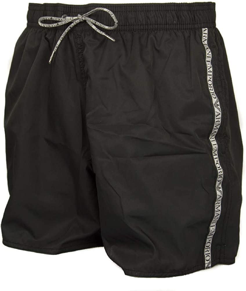 Free shipping Emporio Armani Logo Tape Black Men's depot Shorts Swim
