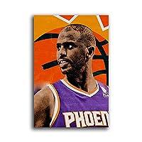 バスケットボール選手クリスポールポスターキャンバス壁アート写真寝室の絵画の装飾研究家の居間の装飾40x60cm(16x24inch)フレームなし