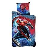 Housse de Couette Spiderman Fusion, Bleu, Enfant, 140x200cm, 100% Microfibre de qualité