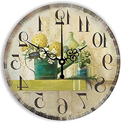 Y-Hui The Living Room Clocks, Tea Mute Clock Wall Clocks Fu Field Wall