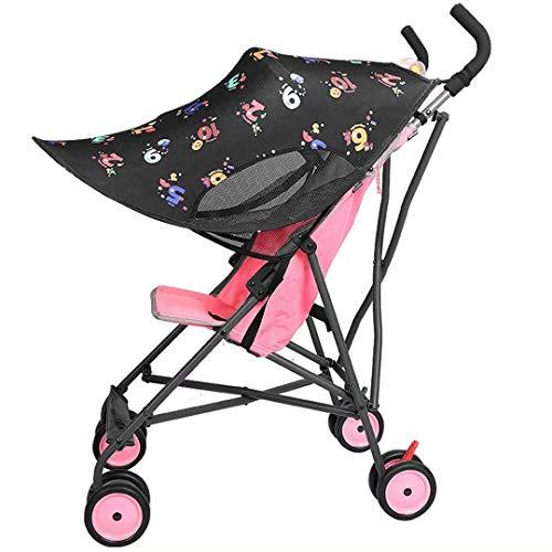 Cochecito de bebé para bebés y niños pequeños Sombrilla para carro Cubierta de protección solar Sombrilla ajustable universal Cubierta de protección solar Toldo Paraguas anti-UV Toldo Carrito