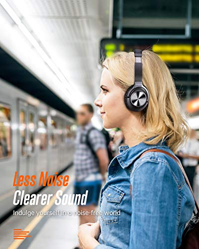 Active Noise Cancelling Headphones  Bluetooth Headphones Over Ear with Microphone Wireless Headset Hi-Fi Stereo Deep Bass  for Travel Work TV PC Cellphones 5