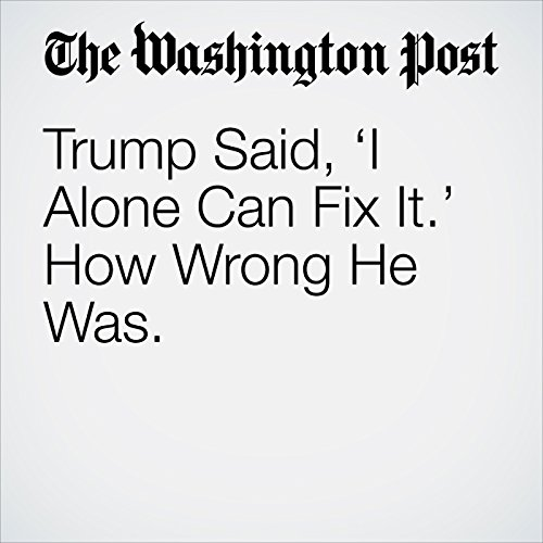 Trump Said, 'I Alone Can Fix It.' How Wrong He Was. copertina