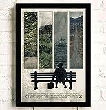 tgbhujk Film Forrest Gump Poster Wandkünstler Home