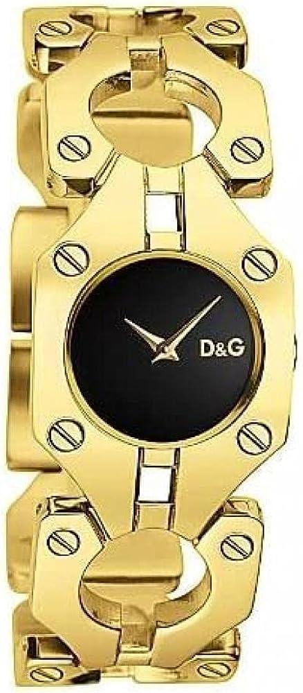dolce & gabbana, orologio da donna, in acciaio inossidabile dorato dw0401 d&g