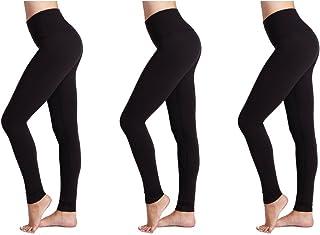 ONGASOFT Femme Capri Legging Yoga Pantalon en Maille dexercice entra/înement Leggings W Poche