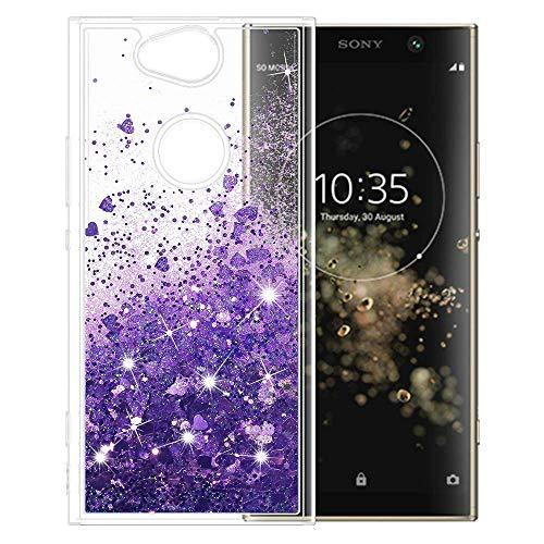 Wishcover Hülle Sony Xperia XA2 Plus Glitzer Handyhülle,Cover TPU Bumper Silikon Flüssigkeit Treibsand Clear Schutzhülle für Hülle Sony Xperia XA2 Plus Handy Hüllen
