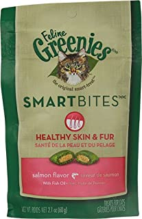 Greenies Feline SmartBites Healthy Skin and Fur Salmon -- 2.1 oz(packof2)