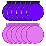 Round Mirror, Portable Versatile Mirror for Every Lady's Bag, Purse or Cosmetic Bag, Great for Crafting Set of 12, Assorted Pink and Purple