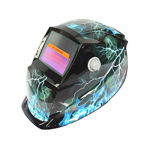 Blingbin Casco de soldadura con energía solar, oscurecimiento automático solar de oscurecimiento automático máscara de soldadura montada en la cabeza de soldadores máscara protectora