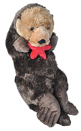 Wild Republic Jumbo Sea Otter Plush, Giant Stuffed Animal, Plush Toy, Gifts for Kids, 30' (19331)