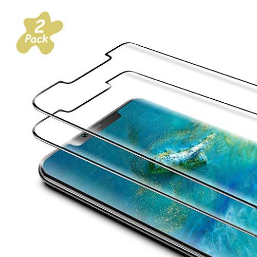 Preisvergleich Produktbild Sunoule [2 Stück Panzerglas Displayschutzfolie kompatibel mit Huawei Mate 20 pro,  Ultra-klar,  9H Härte,  Anti-Kratzen,  Anti-Öl,  Anti-Bläschen Panzerglasfolie für Huawei Mate 20 pro