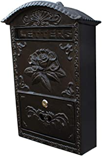 Akang Mailboxes for Outside, Wall-Mounted Locked Mailbox, Decorative Outdoor Mailbox,Cast Iron