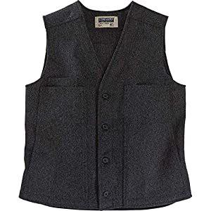Stormy Kromer Button Vest – Cold Weather Men's Wool Vest Charcoal