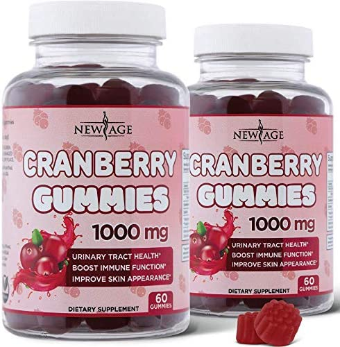 Cranberry Gummies by New Age Urinary Tract Health Gummies 1000mg Supports Bladder Kidney UTI product image