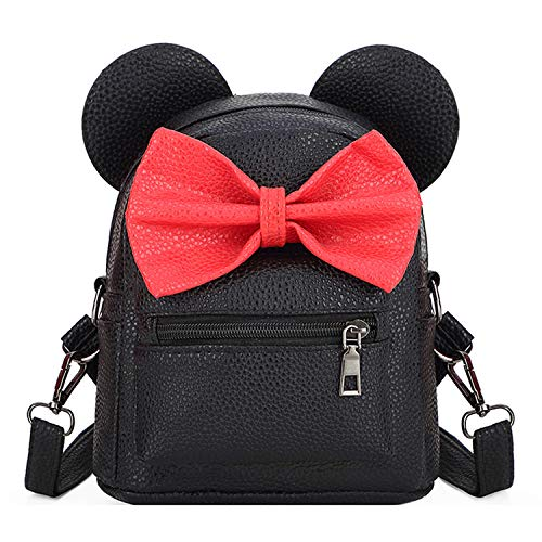 Sunwel Fashion Bag Outdoor Shopper School Bookbag Casual Shoulder Pu Bow Travelling Cute Bow Small Backpack
