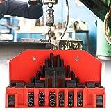 Kit de Abrazadera de Ranura en T, 58 Piezas Placa de Prensa Combinada de Sujeci¨n Endurecida para Fresadora Placa de Prensado de Molde de Torno M12