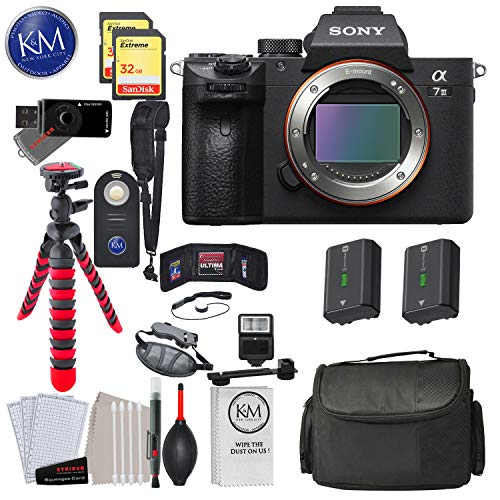 Deco Gear Backpack Case 2X 64GB Memory Cards Extra Battery Kit Bundle Sony a7III Full Frame Mirrorless Camera ILCE-7M3KB with 2 Lens SEL2870 FE 28-70mm F3.5-5.6 OSS and SEL50F18F FE 50mm F1.8 Set