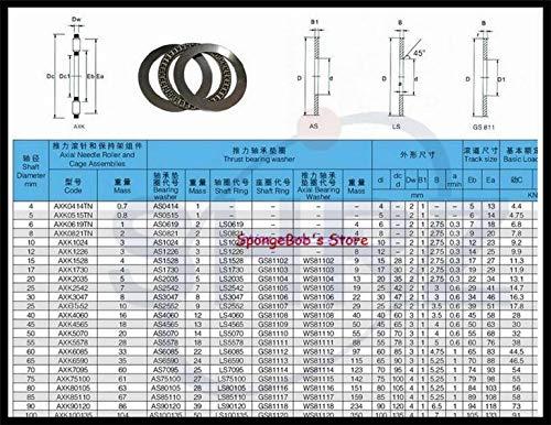 Length: AXK1528 15x28x4mm 2AS with Washer Ochoos 100pcs//lot Plane Thrust Need Roller Bearing AXK0619 AXK0821 AXK1024 AXK1226 AXK1528 AXK1730 AXK2035 AXK2542