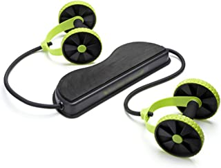New Sport Core Double AB Power ab roller ab wheel fitness Abdominal exercises Equipment coaster Pull roda Waist Slimming Trainer (Green)