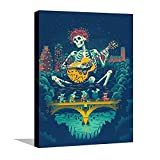 GAOXIN Grateful Of Dead Poster Decorative Painting,Canvas Wall Art Picture,Painting Print Artwork and Home Decor Ready to Hang for Living Room and Bedroom 12x16inch(30x40cm)Unframed