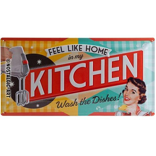 Nostalgic-Art 27009 Plaque rétro en tôle Motif Cuisine des années 50 25 x 50 cm