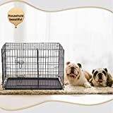 BestPet 30' Pet Kennel Cat Dog Folding Crate Wire Metal Cage W/Divider