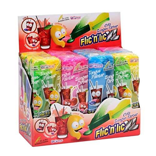 Flic'n'lic Lutscher XL Zungenfärber mit fruchtigem Geschmack 12 Stk. (1er Pack)