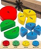 Juguete Montessori Fracciones Jaques de Londres - Aprendamos Fracciones Juguetes de Madera - Juguetes Educativos 1795
