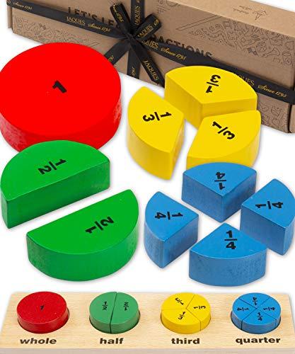 Jaques of London Brüche Puzzle Brett | Spiele und Spielzeug | Montessori Spielzeug | Holzspielzeug | Spielzeug ab 3 4 5 6 Jahre | Kinder Spielzeug Jungen | Since 1795