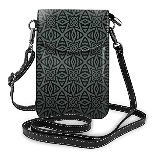 Liten mobiltelefonväska för kvinnor, axelremsväska, jag älskar matematiktema föremål hjärta ikon miniräknare kompass och linjal